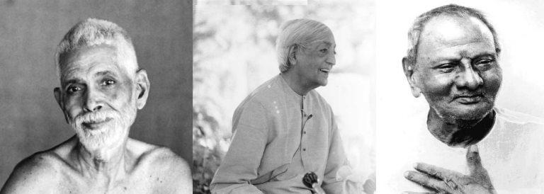 jkrishnamurti nisargadatta ramana maharishi