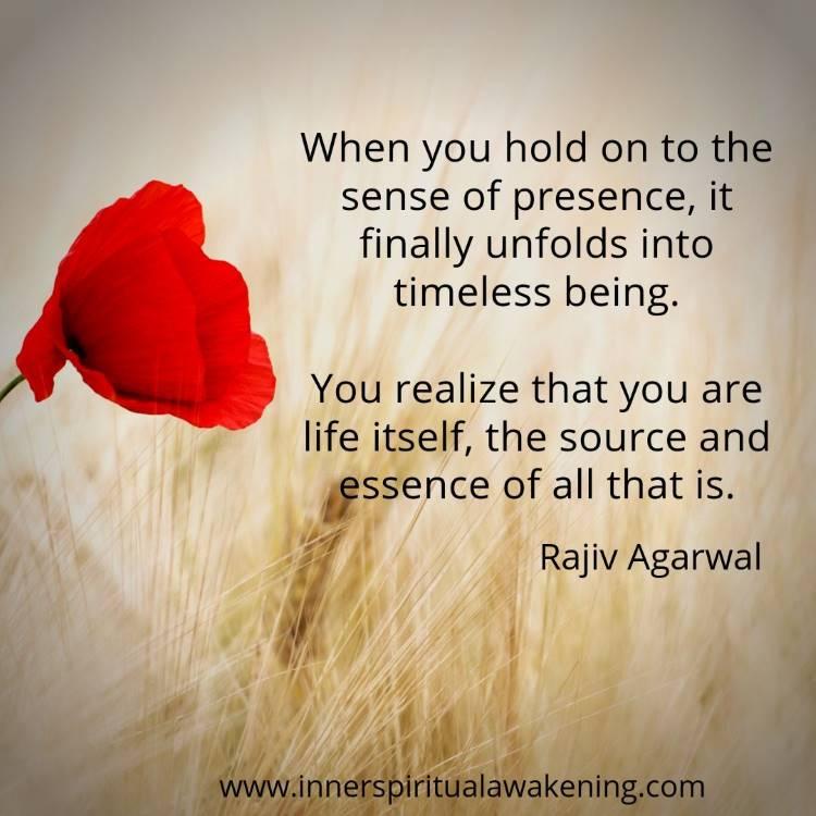 consciousness unfolding quote rajiv