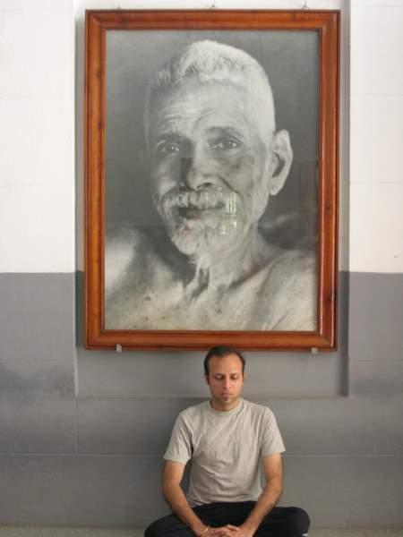 Rajiv Agarwal Meditating Ramana Maharishi