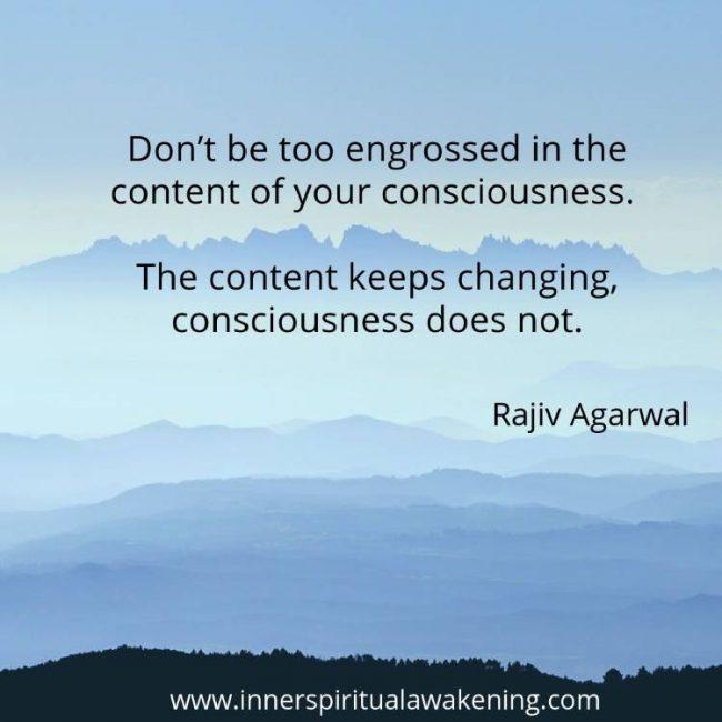 Content of consciousness