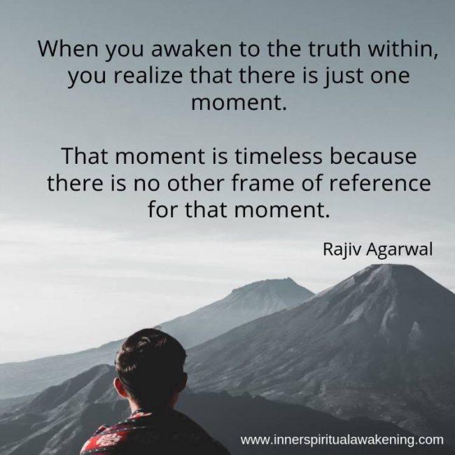 Spiritual quote timeless consciousness